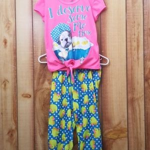 Justice Girls PJ's Size 10